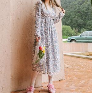 〔Designer+ 〕vintage flower flower dress