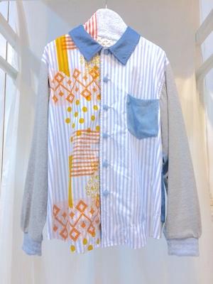 NIGATSU パジャマシャツ Light blue