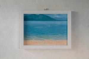 【絵画 油彩】『瀬戸内-向島から望む因島-』2Lサイズ 額入り