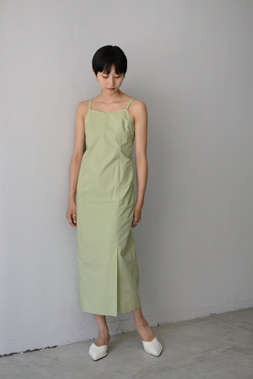 ROOM211 / Cotton lace up Dress (green)