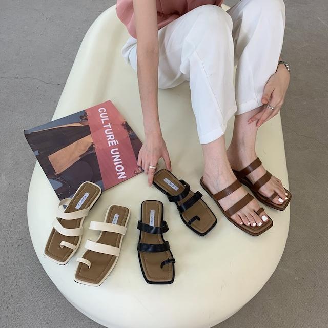 Double strap square toe  sandal KRE934