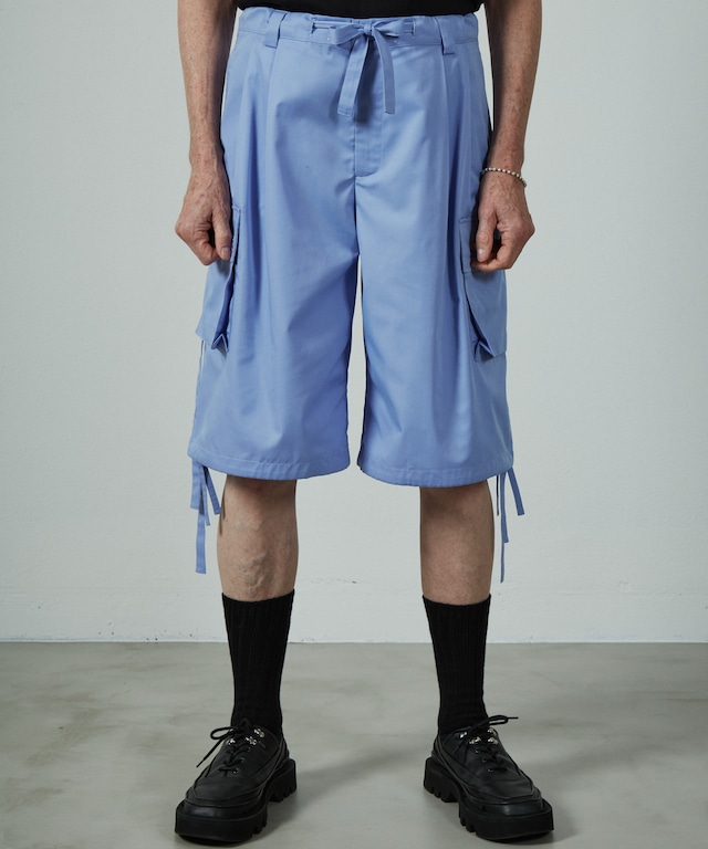 UNSELDS  broad wide cargo shorts  sax Blue
