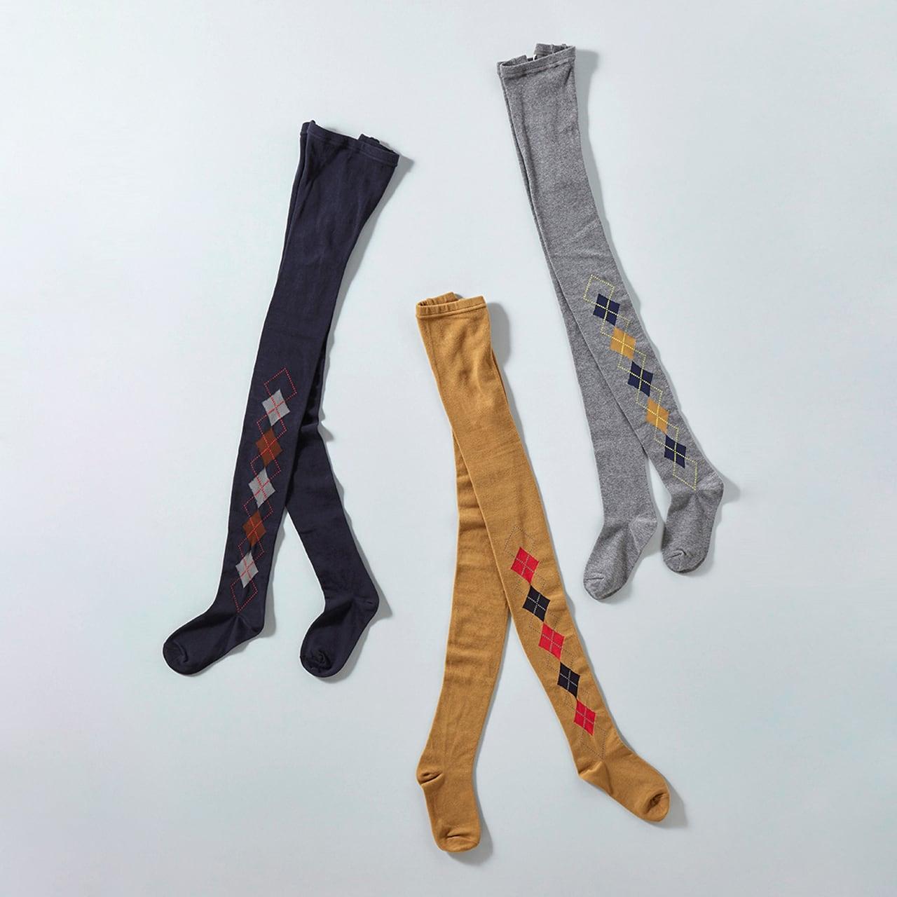 atelier naruse cotton~Argyle~tights