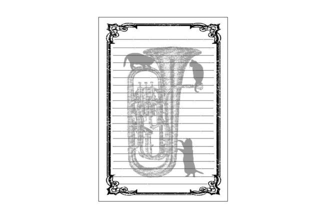 ユーフォニアム黒猫のレターセット