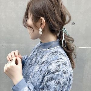 EARRINGS    SHELL EARRINGS (SILVER)    1 PAIR     SILVER    FAF651