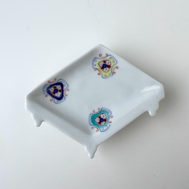 【おてしょ皿】錦更紗散し 盤型手塩皿