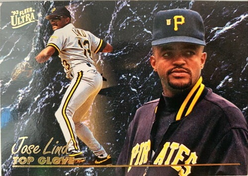 MLBカード 93FLEER Jose Lind TOP GLOVE #004 PIRATES
