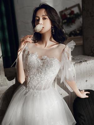 白 カラードレス ロングドレス ウェディングドレス オフショルダー ステージ 忘年会ドレス 結婚式二次会 イブニングドレス Aライン プリンセス 発表会 披露宴 演奏会 大きいサイズ  小さいサイズ8032