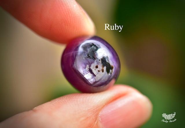 紫と黒の彩★ルビー ルース rub022
