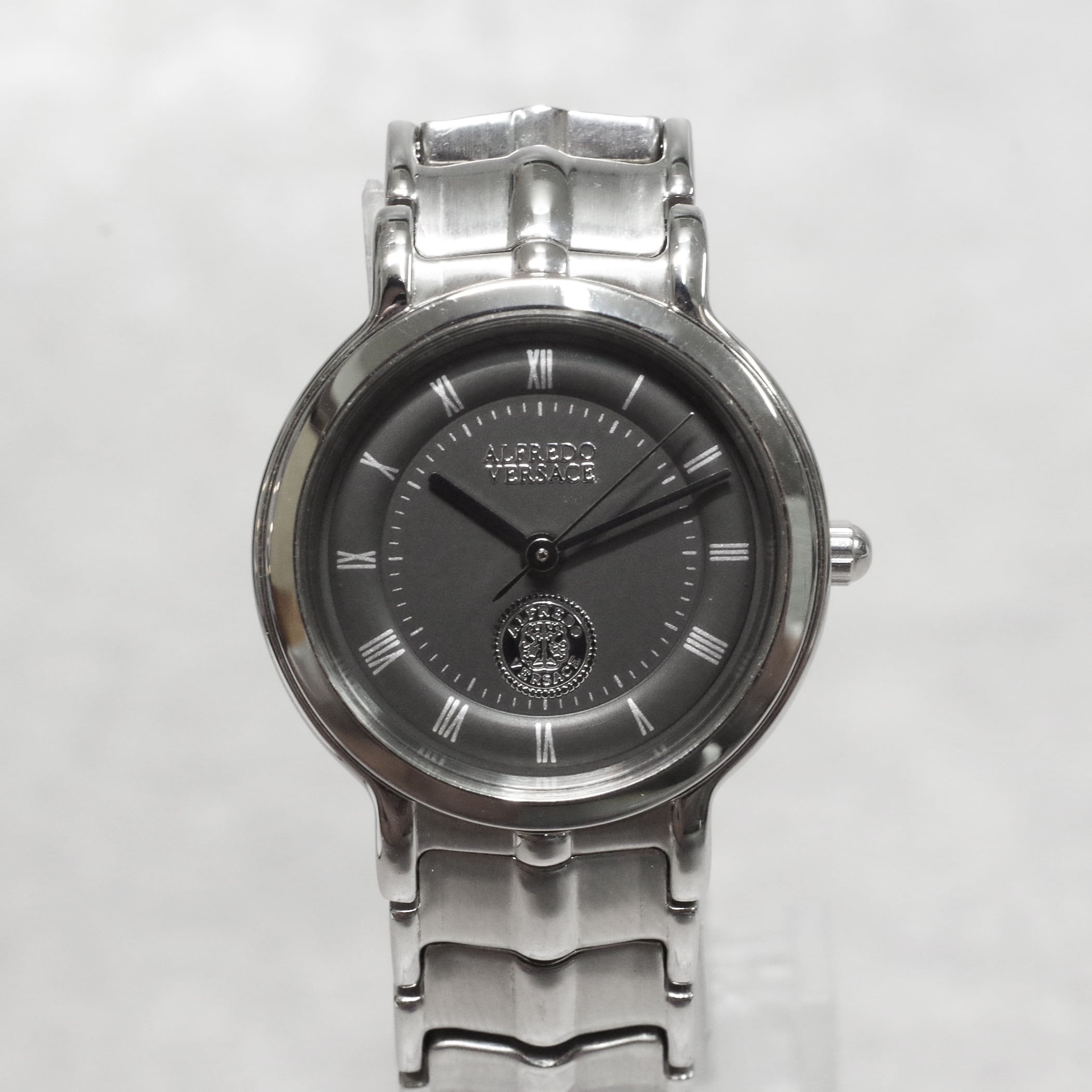 ALFREDO VERSACE ヴェルサーチ V822S SS クォーツ グレー文字盤 腕時計 レディース