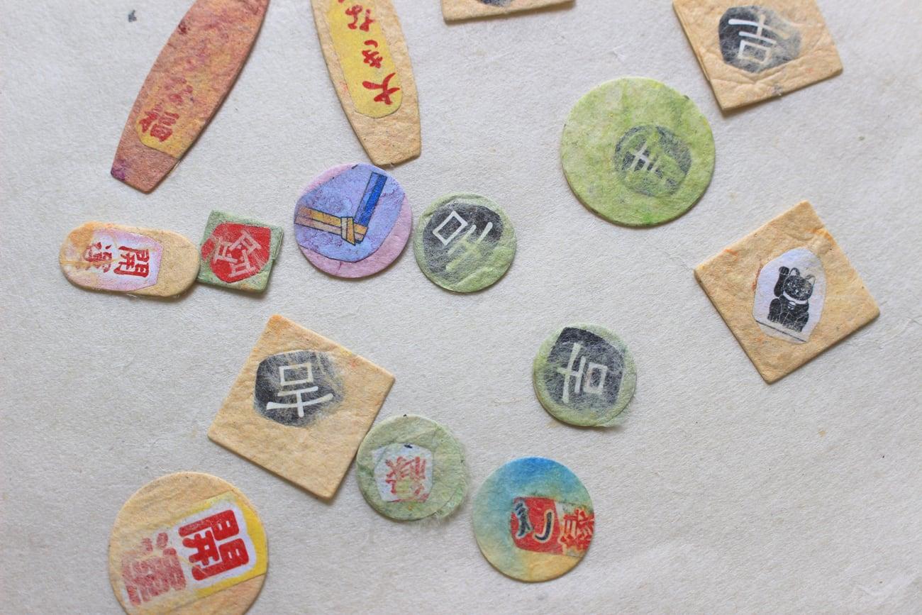 富士山チャームとおみくじ入り和紙の水引ブレスレット