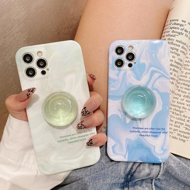 グリップ付き♪ Crystal clear stand iphone case