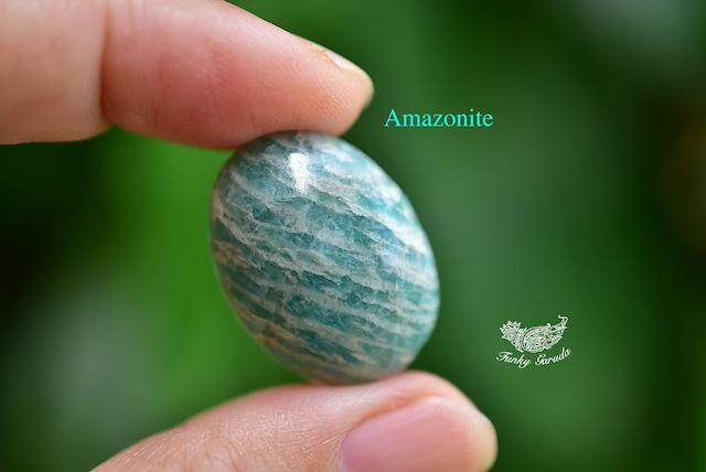 蒼緑の河★天河石★アマゾナイト ルース カボションamaz006