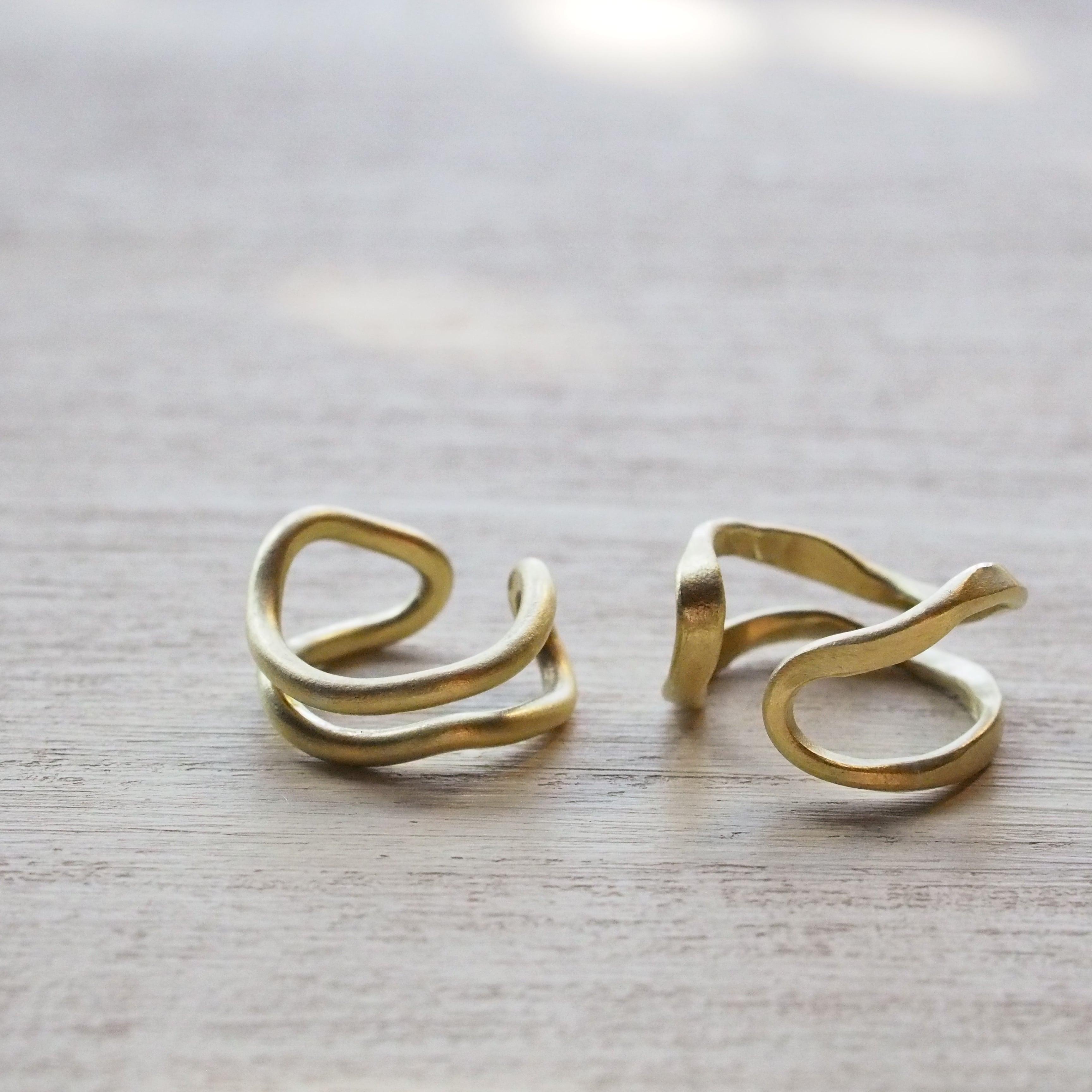 ニュアンス2連イヤーカフ(brass)