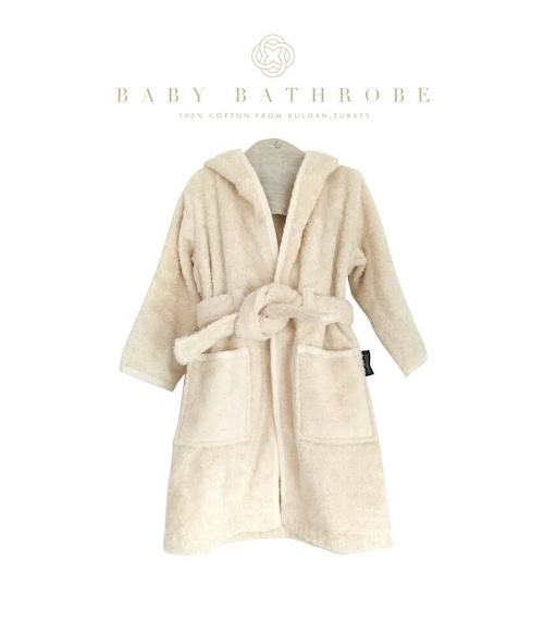 Denizli cotton Baby Bathrobe Beige デニズリコットン ベビーサイズバスローブ ベージュ