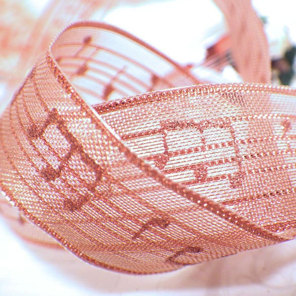 音符リボン メロディ ブロンズ (幅28mm) ★大人気♪