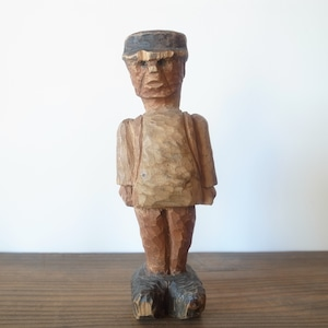 Hand carved Wooden man