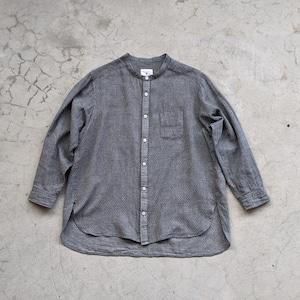 """<OSOCU> Chita-momen band collar shirt """"Seigaiha"""""""""""
