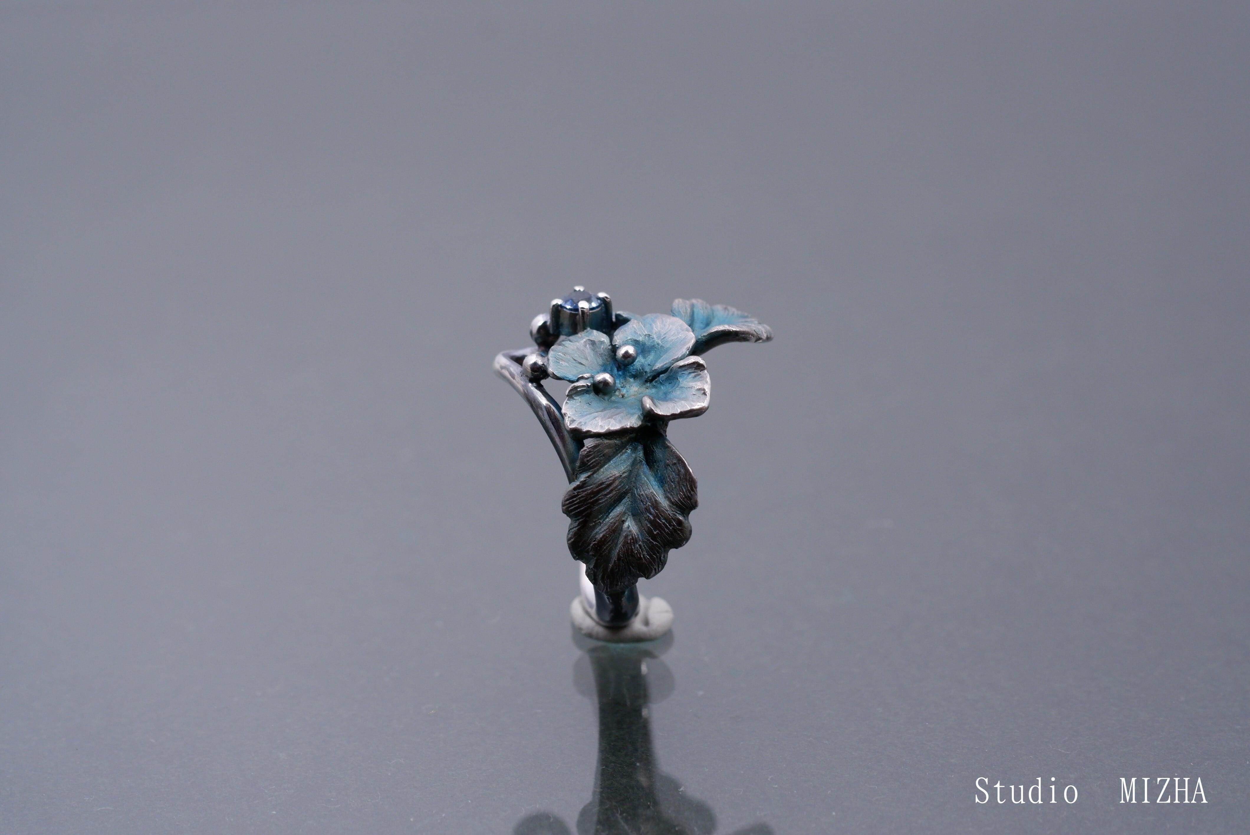 星の瞳(オオイヌフグリの指飾りmr21a03)