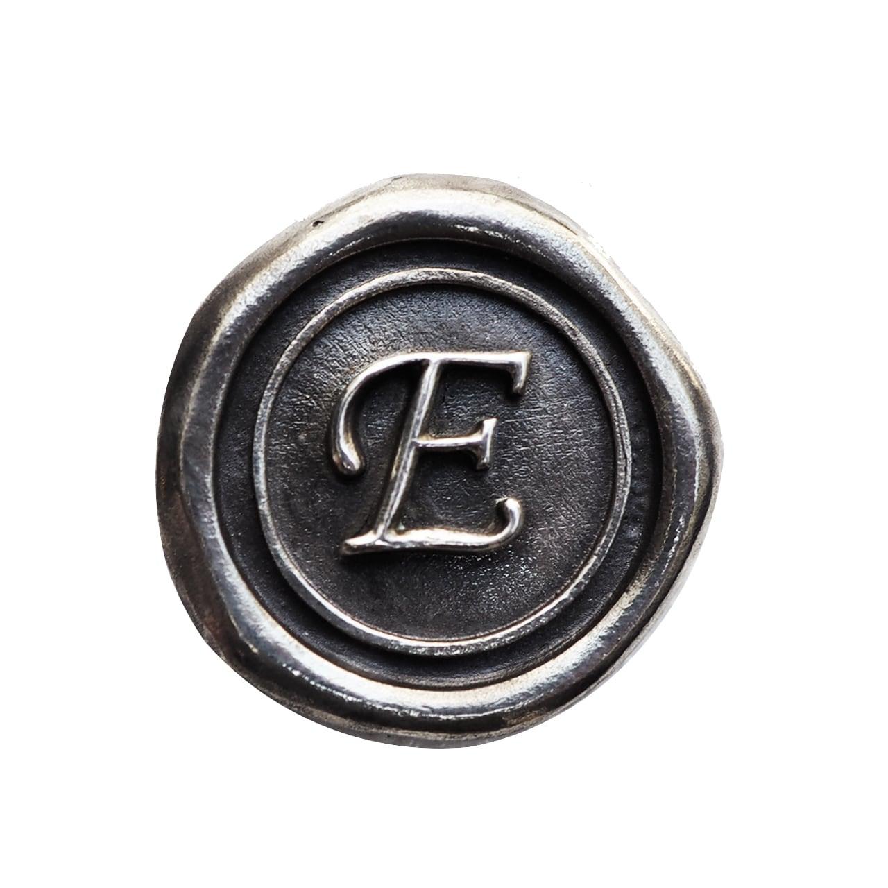 シーリングイニシャル S 〈E〉 シルバー / コンチョボタン