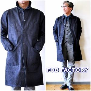 FOB  FOBFACTORY エフオービーファクトリー フレンチデニムコート F2408 インディゴ ロングコート