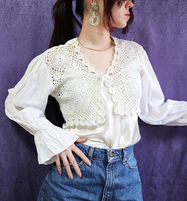 Crochet white cardigan