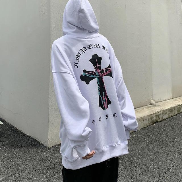 【トップス】プリント男女兼用長袖暗黒系ストリート系フード付きパーカー53531596
