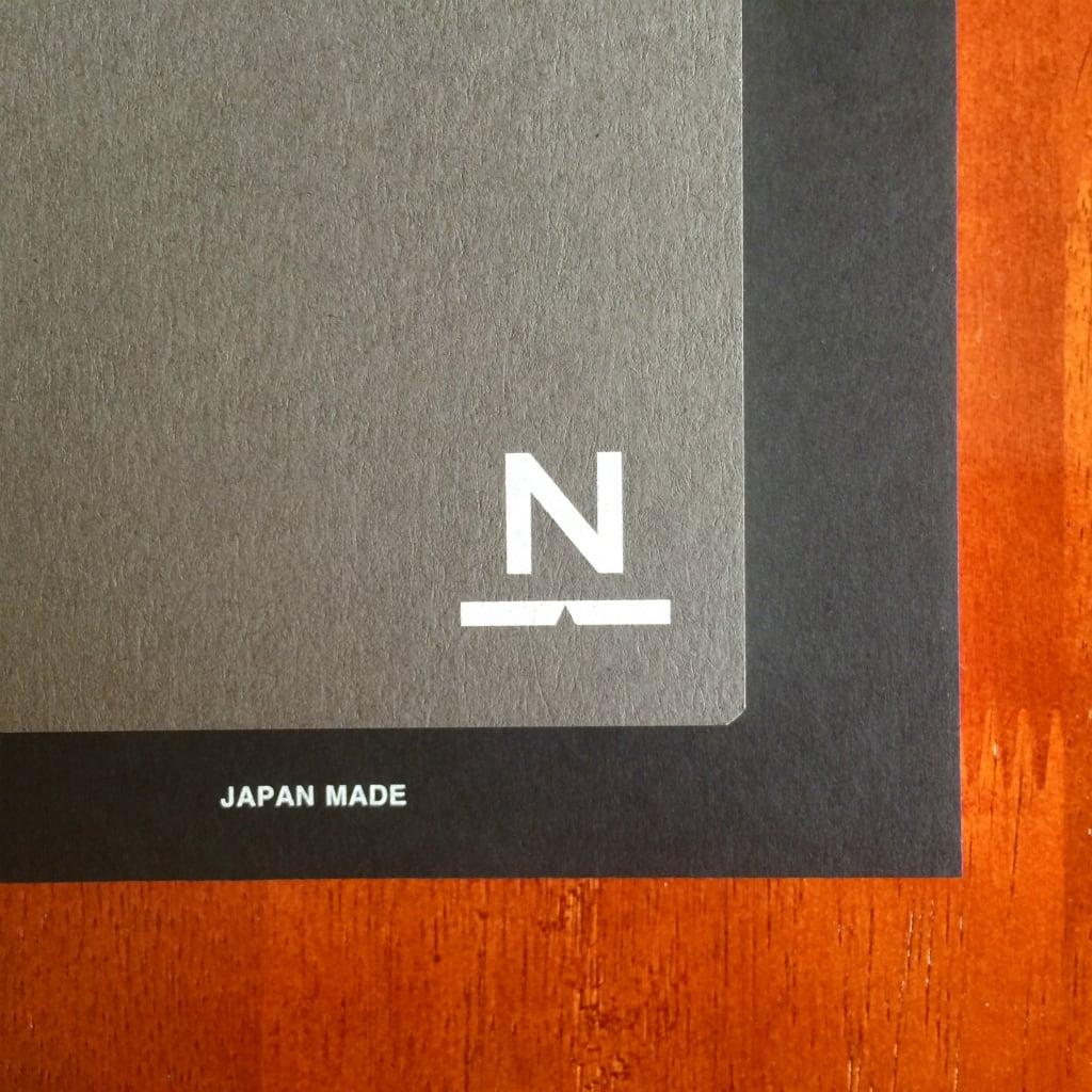 ノンブルノート「N」(14)ダークグレー×ブラック