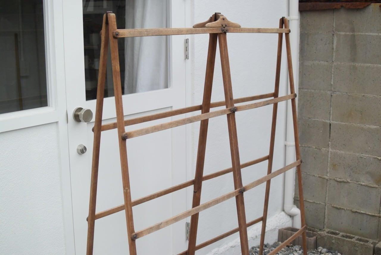 イギリスアンティークの折りたたみ式クロスドライヤー