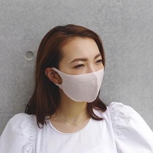 2層リネンシルクマスク ギャザータイプ /カラー:ピンクベージュ【bionatural】