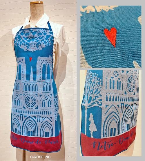 スモールエプロン パリ・クール ノートルダム大聖堂 Tissage moutet/Hélène Druvert(エレーヌ・ドルベール)
