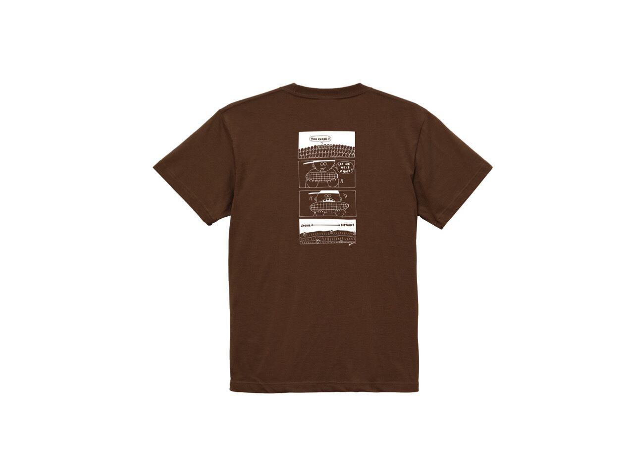 SHI x coguchi corn SD T-shirts (BR/WH)