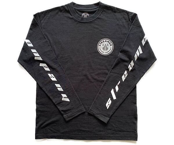 ロングTシャツ (ブラック)