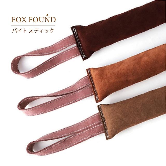 FOX FOUND バイトスティック 犬の噛むおもちゃ ストレス解消 レザー ドッグトレーニング