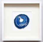 Wall letter◇integrity blue/ Wall decor/calligraphy agate slice/handwritten/ウォールデコ カリグラフィー アゲートスライス