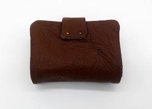 Yezo deer soft wallet S tanned dark brown