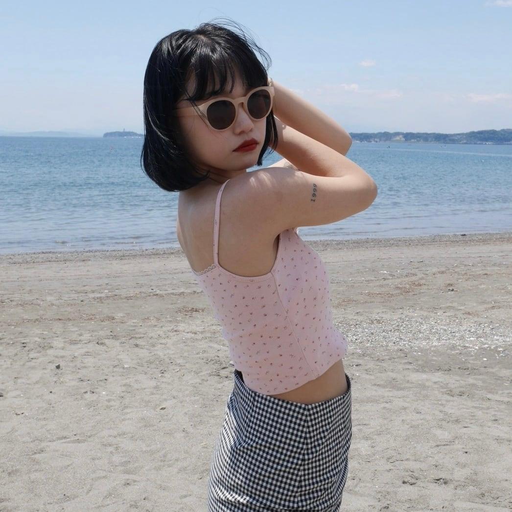 【Belle】flower camisole / pink