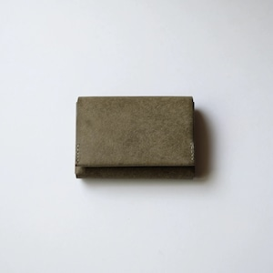 flat wallet - gri - プエブロ