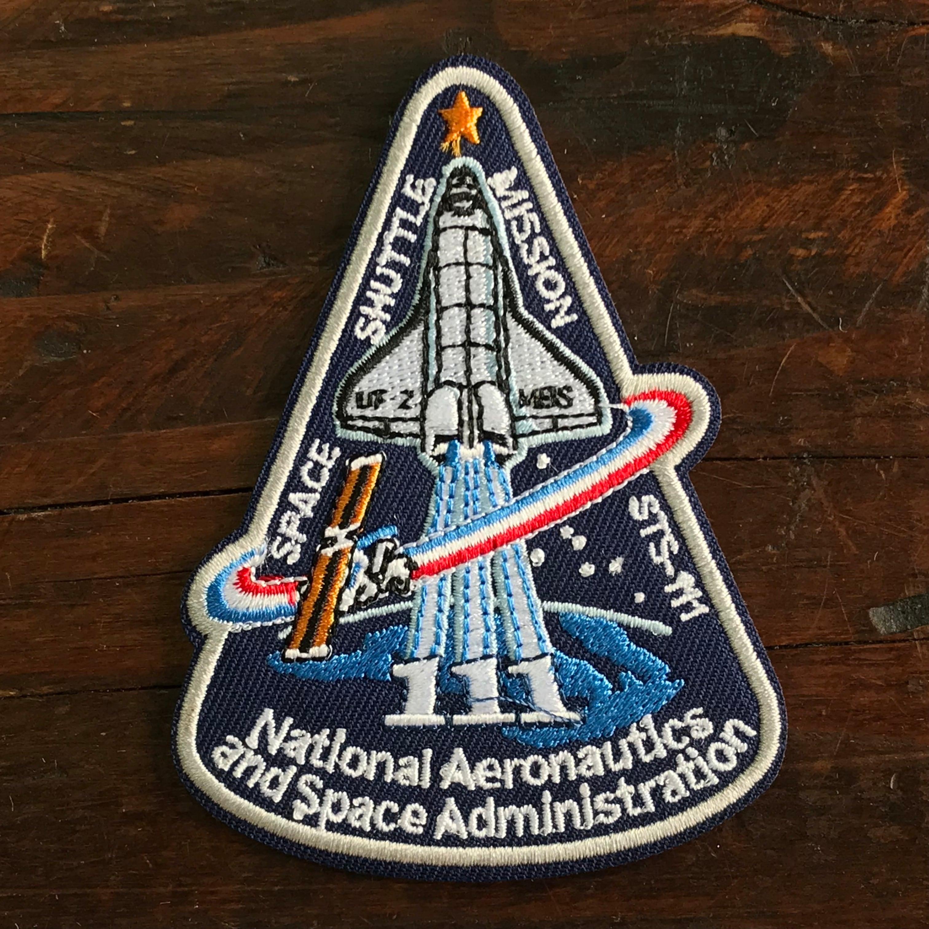 NASA公認(アメリカ航空宇宙局)ワッペン・アップリケ・スペースシャトルミッション・STS-111