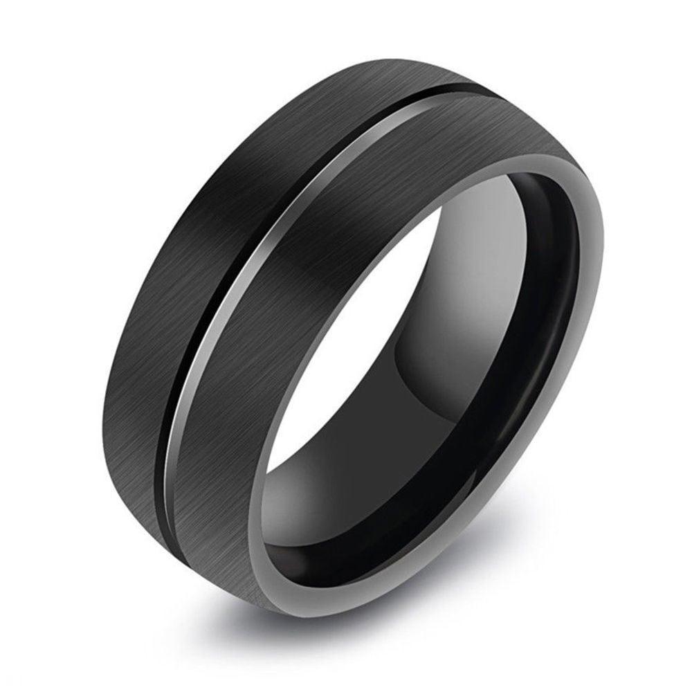 送料込み☆SALE!D016 レディース メンズ 指輪 ブラック ステンレス 韓国 原宿系ファッション