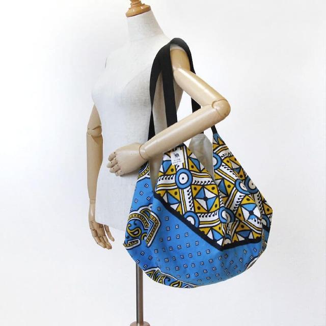 カンガのマルシェバッグ バルーン型 / 大きめ / エコバッグ / アフリカ布