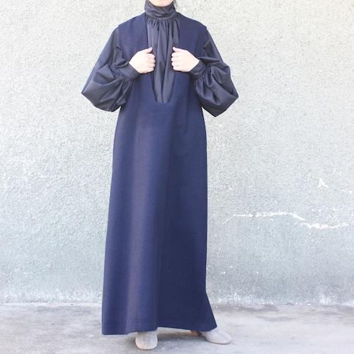 Deep U neck long dress