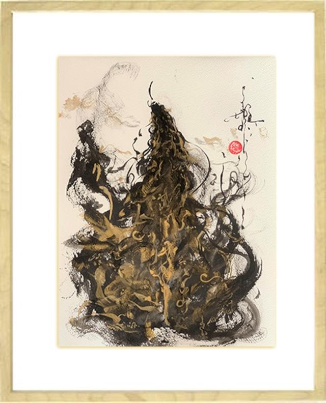 龍神画 ~黒龍 上昇~ 原画F4サイズ