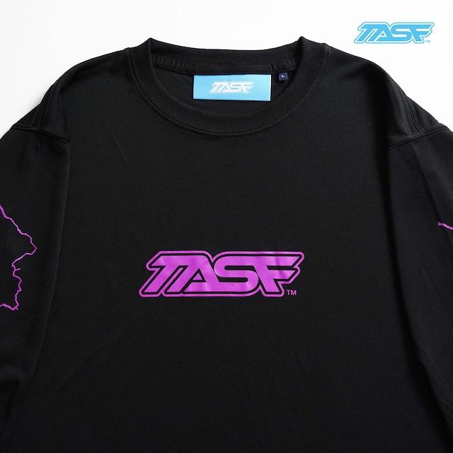 TASF  /  DRY L/S Tee  / YodoRiver  /  BLK×Neon Purple