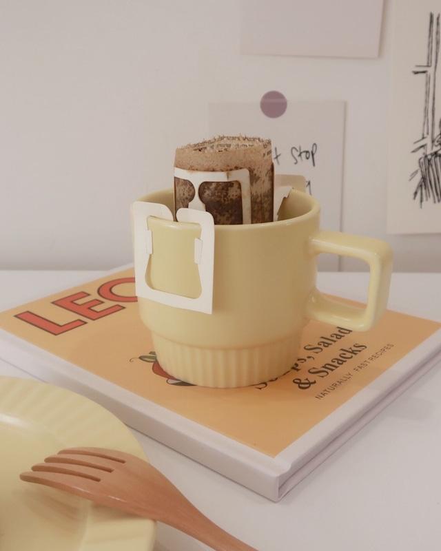 cream yellow mug