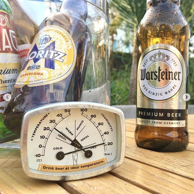 サーモハイグロメーター(温湿度計)ビール・ラウンド