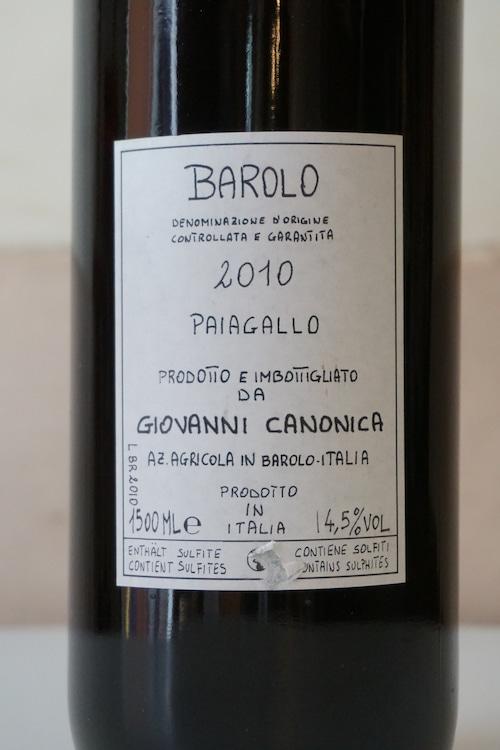 Barolo Paiagallo 2010 1500ml / Canonica( バローロ パイアガッロ / カノーニカ )