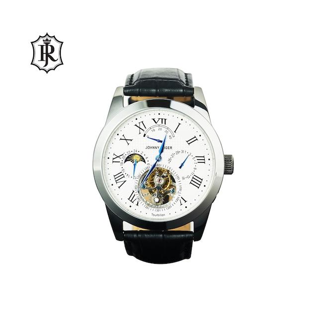 JOHNNYROGER メンズ 腕時計 フライングトゥールビヨン パワーリザーブ搭載 カレンダーTourbillon Roi