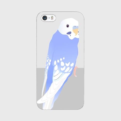 iPhoneケース セキセイインコ スパングルブルー男の子【各機種対応】