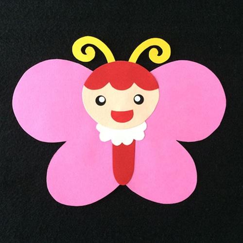 ちょうちょ(ピンク)の壁面装飾